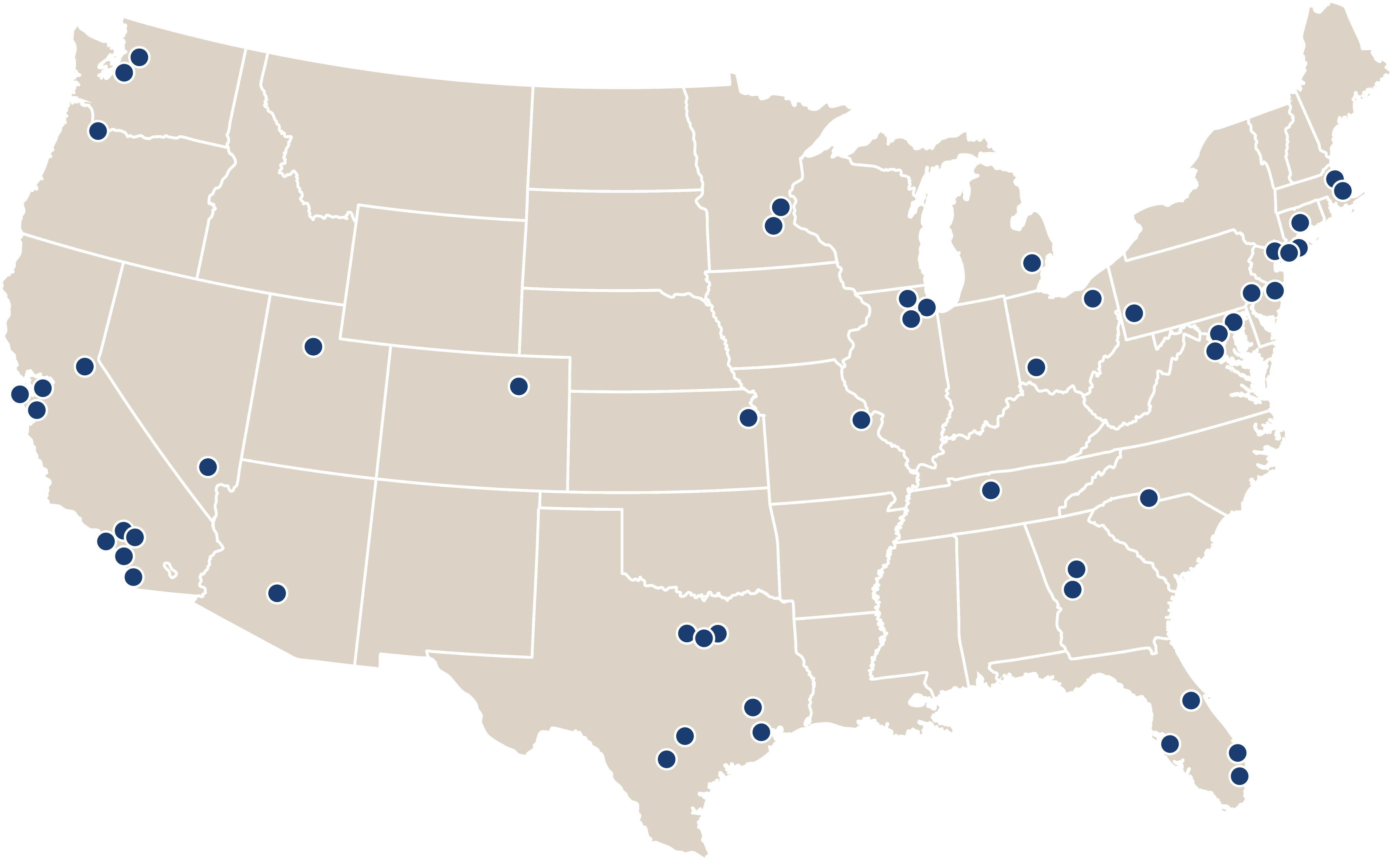 Map of ClearChoice locations